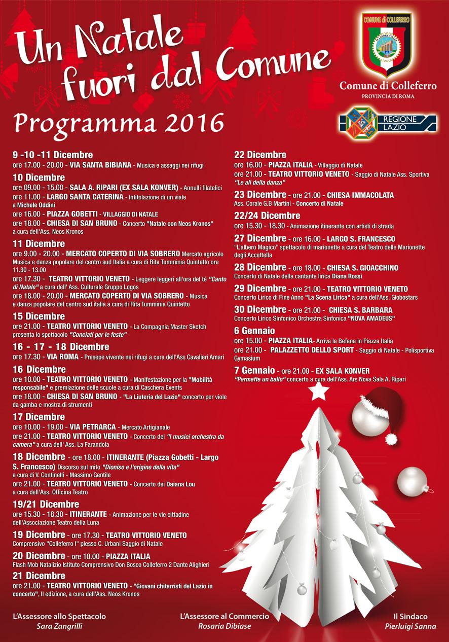 Eventi Di Natale.Colleferro Gli Eventi Di Natale 2016 Il Programma Da Qui A