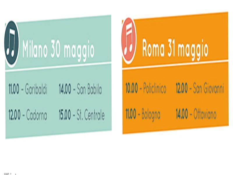"""Amplificami, nelle stazioni della metro di Roma sei cantanti per """"dare voce"""" ai pazienti con Mieloma Multiplo"""