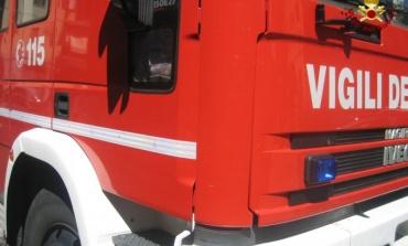 Paliano, incendio su via Palianese in prossimità della Selva (AGGIORNATO)
