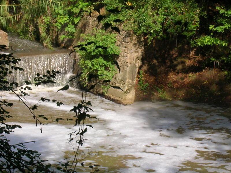 Fiume Sacco, acque di nuovo imbiancate per via dell'inquinamento