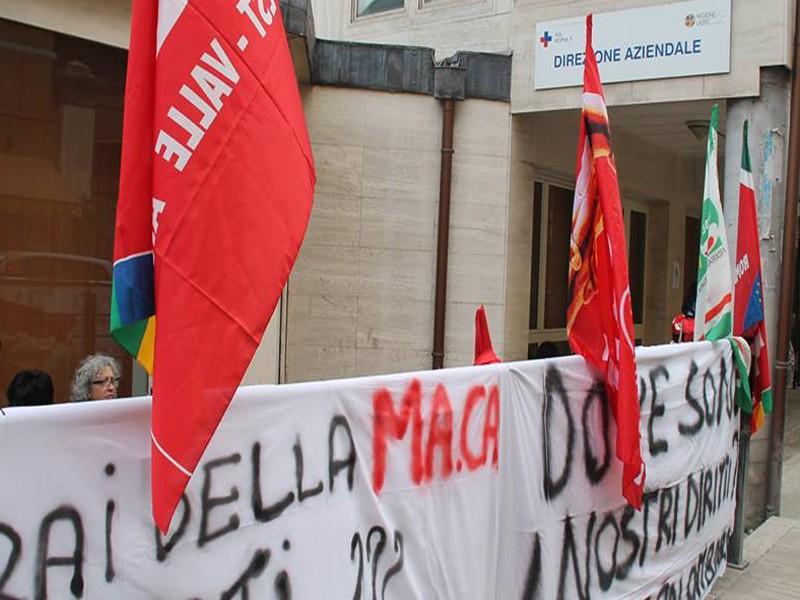 Tivoli, presidio di protesta 19 ottobre 2016: richiesta di pagamento dei lavoratori MA.CA.