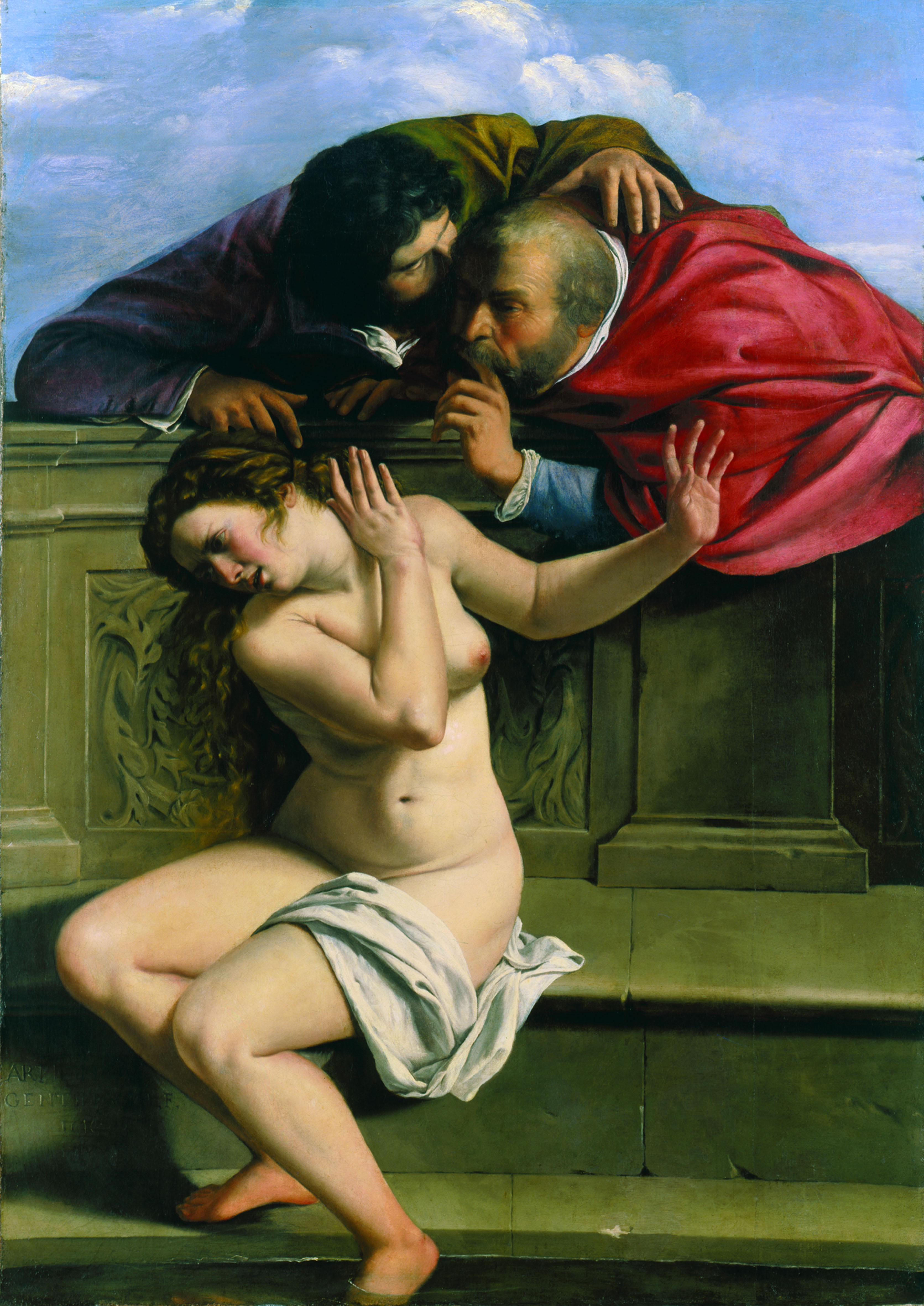 Susanna e i vecchioni, 1610 Olio su tela, 170x119 cm Pommersfelden, Kunstsammlungen Graf von Schonborn