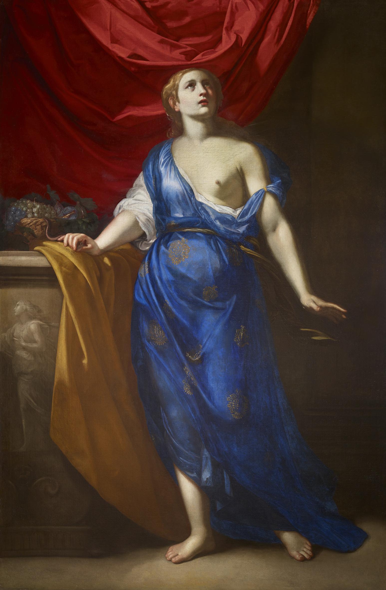 Cleopatra, 1639-40 ca. Olio su tela, 223x156 cm Parigi, Galerie G. Sarti