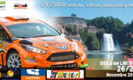 3° Rally della Ciociaria 2016, giovedì 24 novembre la presentazione