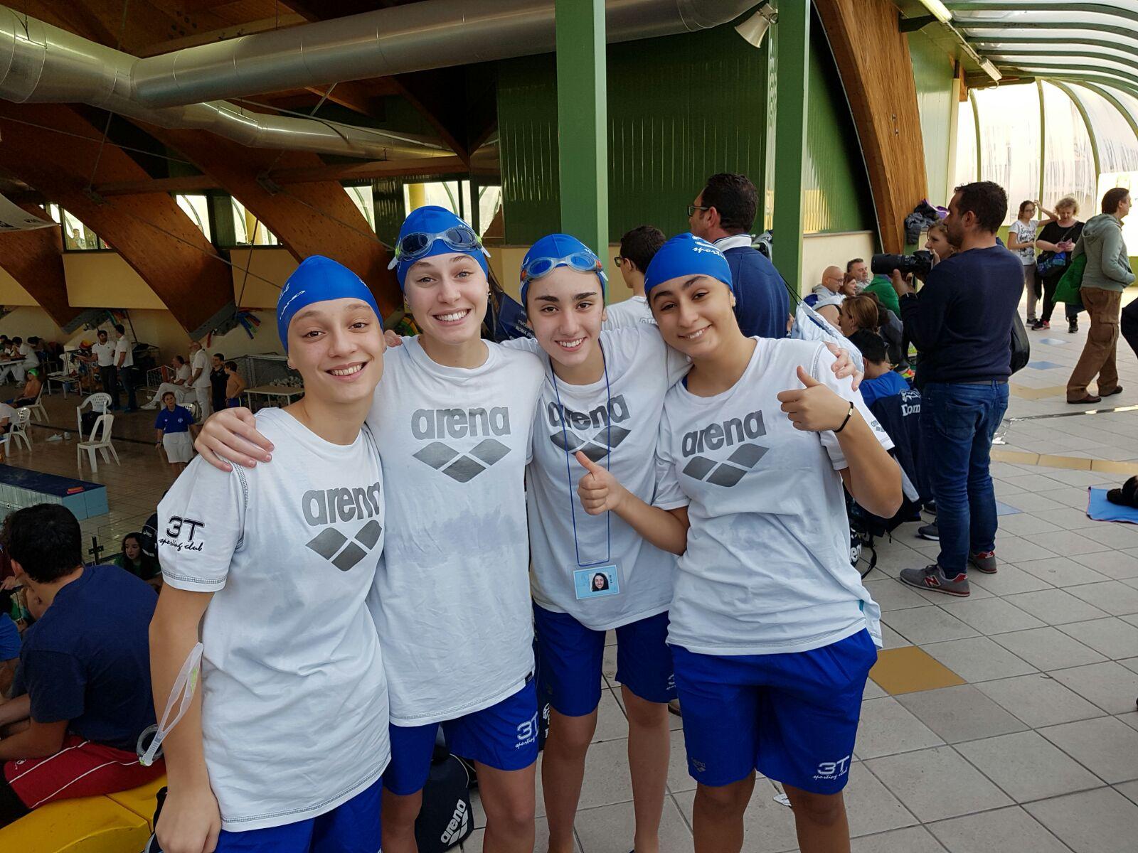 3T Frascati Sporting Village, staffetta quarta ai campionati regionali di salvamento
