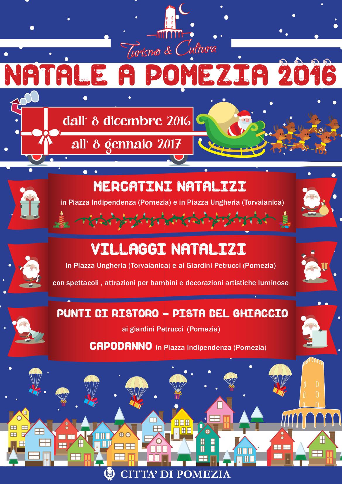 Pomezia Natale 2016 Il Programma Delle Attività Dall 8 Dicembre