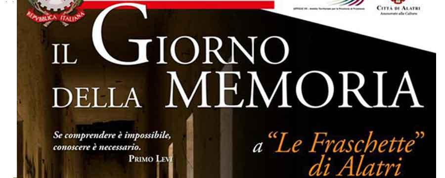 """Alatri, 27 gennaio: Celebrazione della """"Giornata della Memoria"""","""