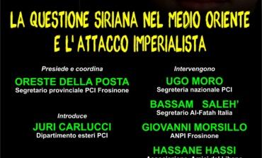 Frosinone, La questione siriana nel Medio Oriente e l'attacco imperialista: evento del PCI