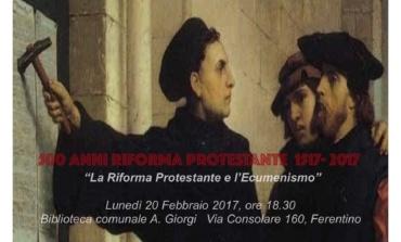 Ferentino, 500° anniversario della Riforma Protestante: le iniziative della Chiesa Valdese
