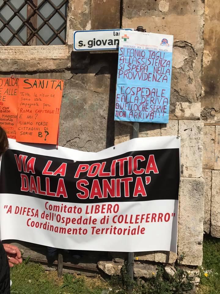 Tivoli, Manifestazione di Cittadinanzattiva contro i tagli alla sanità: le richieste