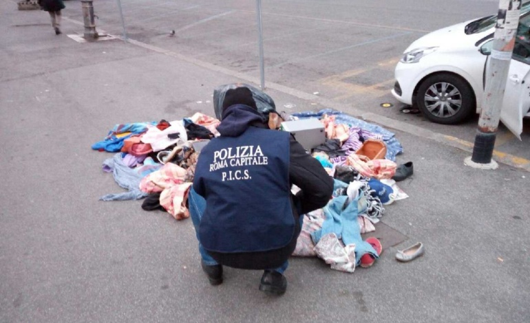 Ostiense, intervento della Polizia Locale contro degrado e abusivismo (FOTO)