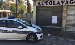 Roma, Portuense, la Polizia Locale chiude un autolavaggio