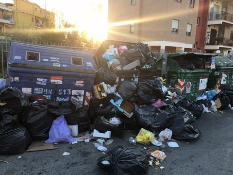 Roma, VII Municipio. L'emergenza rifiuti rimane invariata (FOTO)