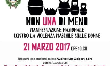 """Sora, """"Non una di meno"""": il Comune promuove manifestazione contro la violenza sulle donne"""