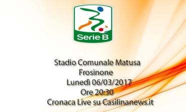 Frosinone-Cittadella, stasera la cronaca live della partita di Serie B