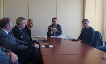 Anagni, questione ospedale: l'assessore regionale all'ambiente Buschini incontra 9 Sindaci