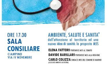 """Ciampino, M5S: il 10 marzo ci sarà il convegno """"difendiAMO il Diritto alla Salute"""""""