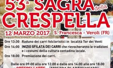 Veroli, domenica 12 marzo la 53° Sagra della Crespella