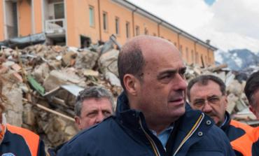 Terremoto centro Italia, il sopralluogo di Zingaretti coi sindaci dei comuni colpiti