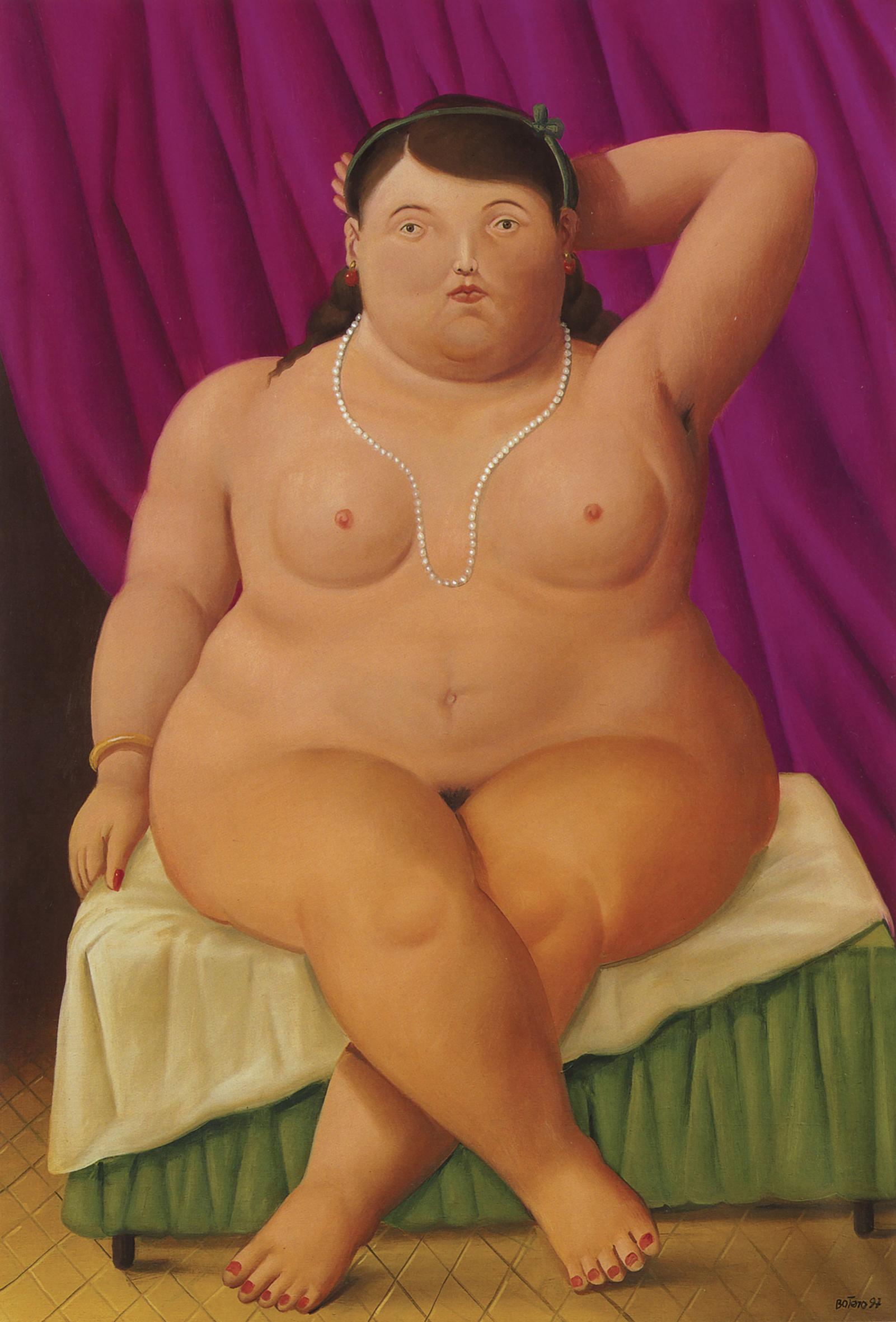 Donna seduta, 1997 olio su tela