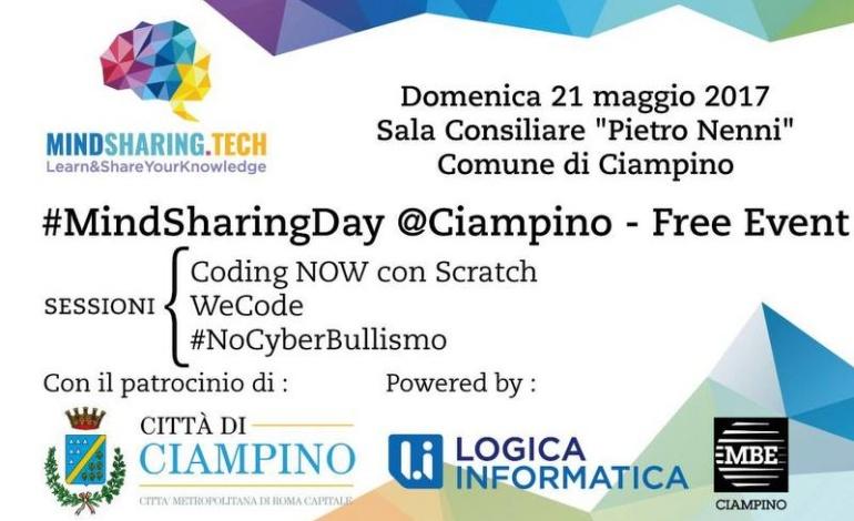 Ciampino, domenica 21 maggio arriva l'open day #MindSharing: scopri tutte le info