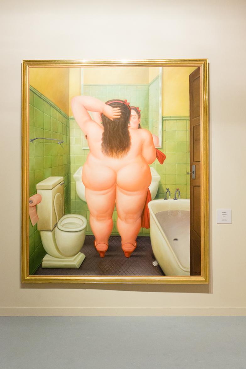 Il Bagno, 1989 olio su tela