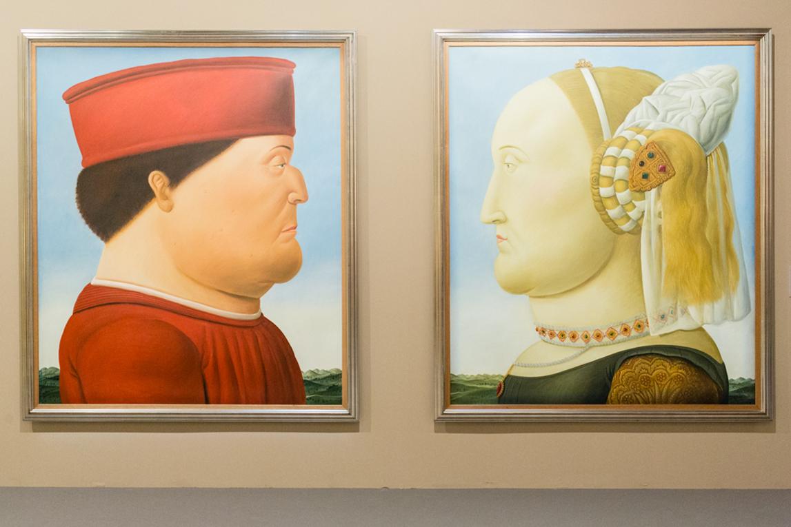 Piero della Francesca ( dittico) 1998 olio su tela