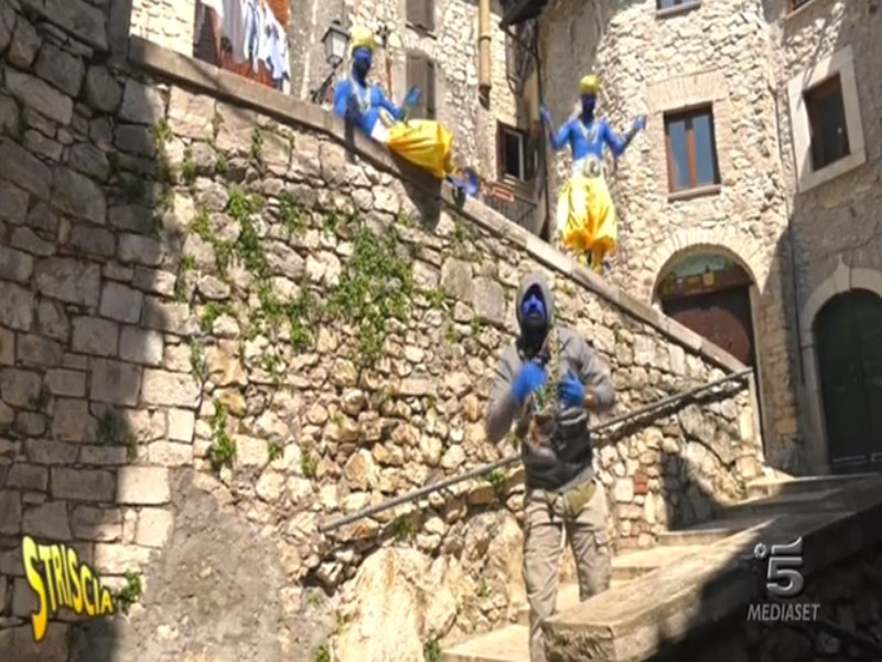 Bovini in libertà a Carpineto Romano: il video andato in onda a Striscia la notizia ieri