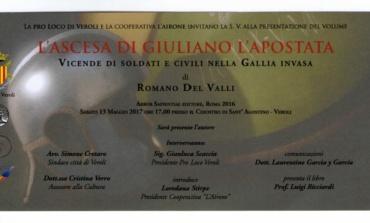 Veroli, sabato 13 maggio la presentazione del libro di Romano Del Valli