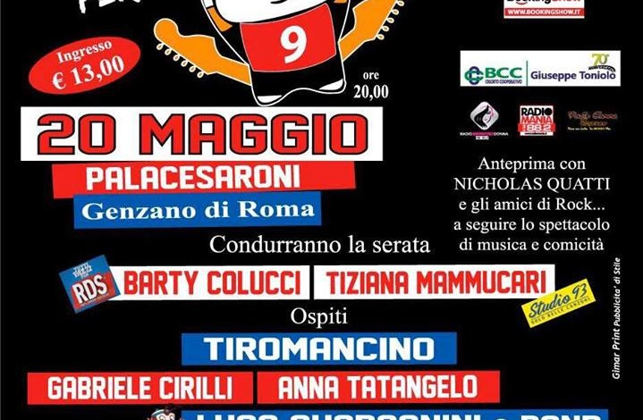 """Genzano, sabato 20 maggio al PalaCesaroni lo spettacolo di beneficenza """"Rock per un bambino 9"""""""
