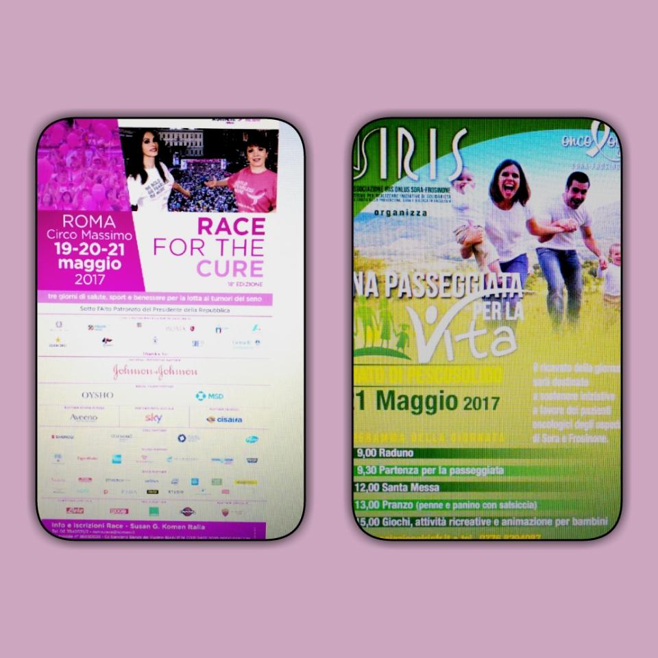Race for the Cure: l'asse Roma - Pescosolido (Fr) insieme per la lotta contro i tumori