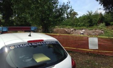 Prenestino, sequestrati 2000 mq di terreno in vicolo di Valle Bagnata: creata discarica vicino conduttura di acqua marcia