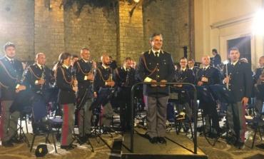 Ceccano, Fanfara della Polizia di Stato in concerto: grande successo