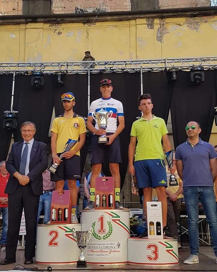 A Canepina la Velosport Ferentino fa tris: vince il ciociaro Lorenzo Germani (FOTO)