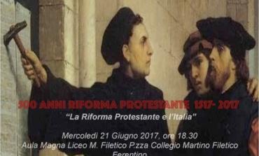 Ferentino, 500° anniversario della Riforma Protestante: molte le iniziative previste