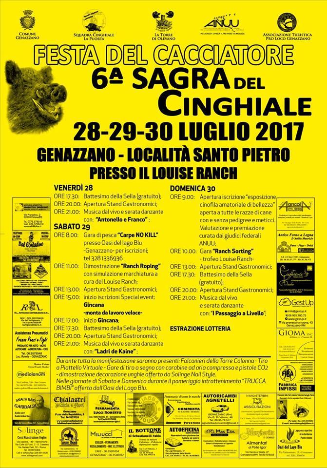 Genazzano, Sagra del Cinghiale 2017: il programma della sesta edizione