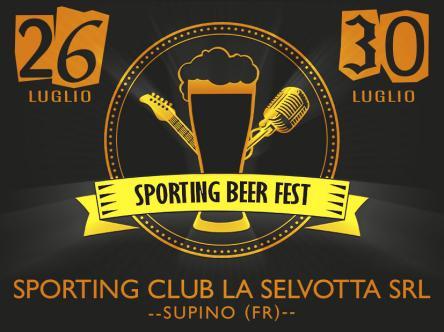 Supino, Sporting Beer Fest 2017: il programma della festa dal 26 al 30 luglio