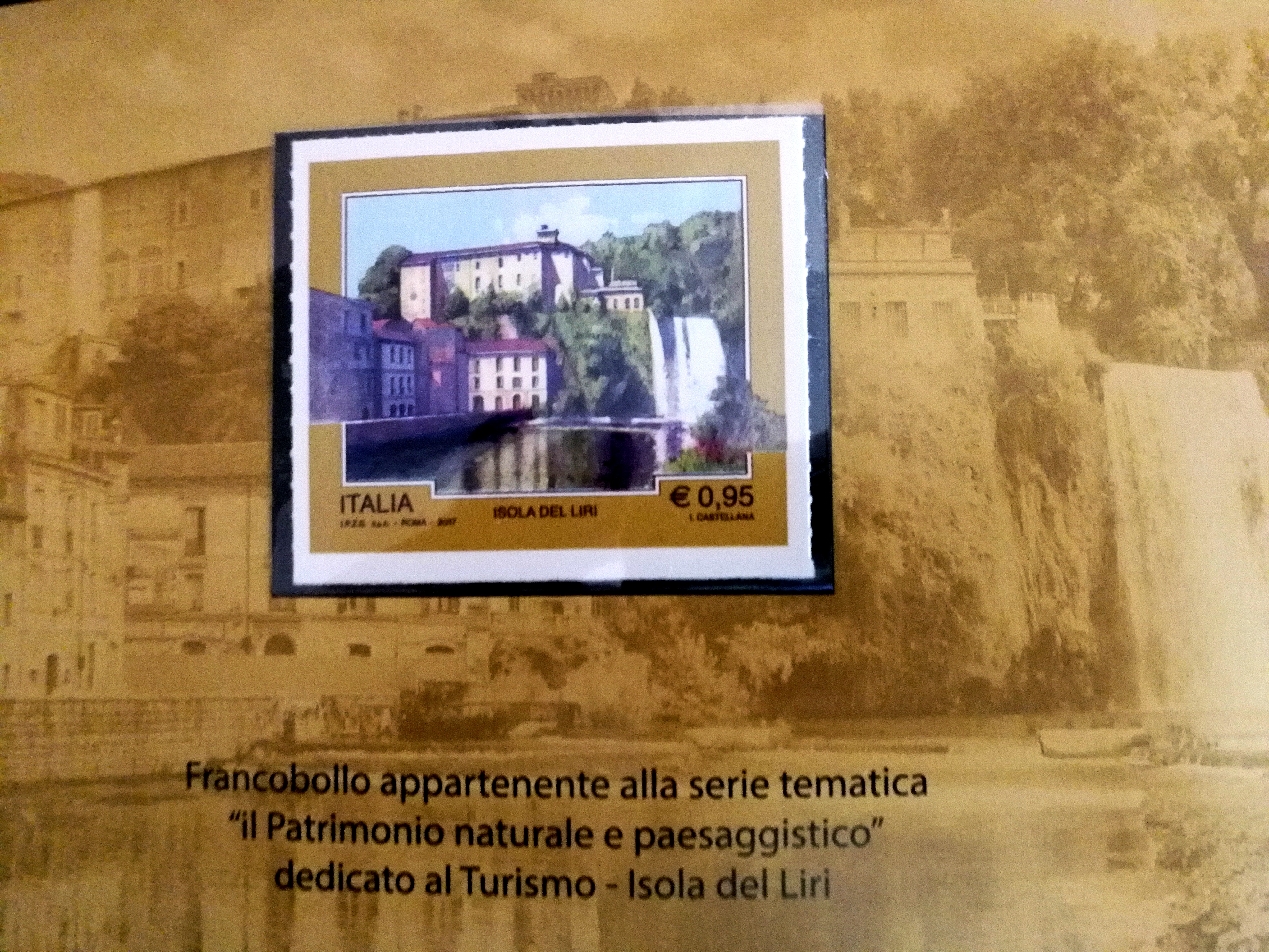 Un Francobollo per una città, Isola del Liri e le sue Cascate
