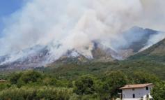 Incendio sul monte Semprevisa: Vigili del Fuoco in azione per domare le fiamme (FOTO)