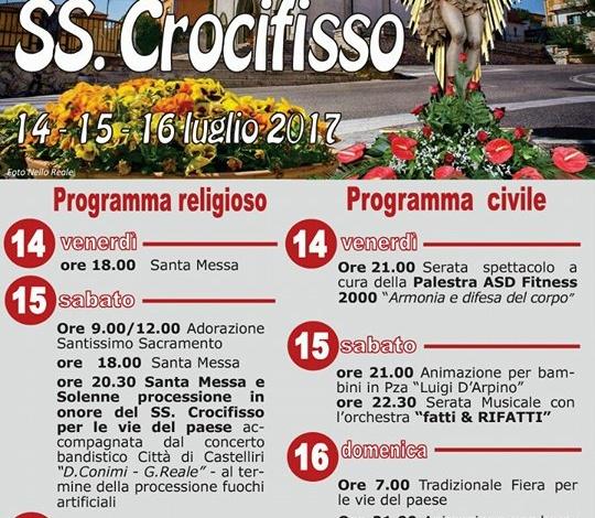 Castelliri, domenica 16 Luglio si concludono i festeggiamenti per il SS.mo Crocifisso