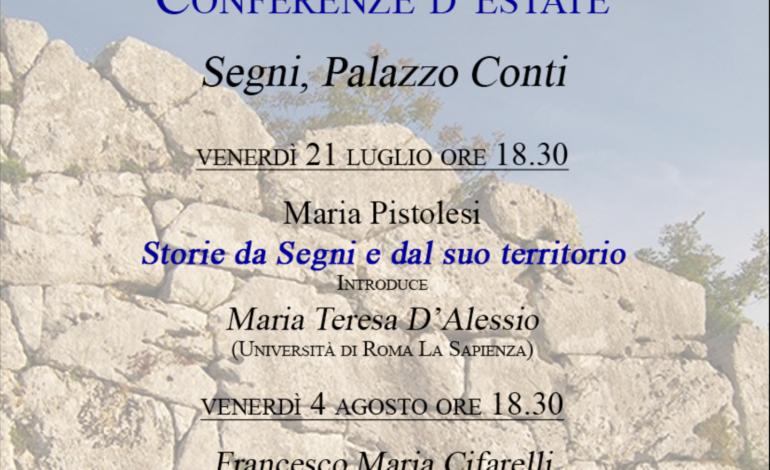 Segni, il Museo Archeologico accende l'estate con due conferenze sul territorio