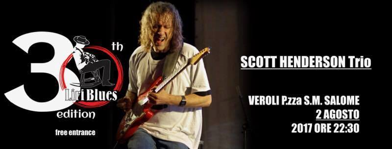 Veroli, mercoledì 2 agosto torna Liri Blues con Scott Henderson.