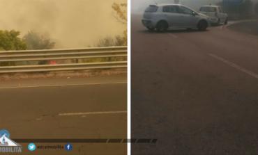 Veroli, chiusa la superstrada a causa di un incendio: deviato il traffico
