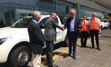 Fiumicino, Aeroporti di Roma consegna due mezzi fuoristrada 4x4