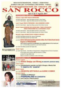 Veroli, i festeggiamenti in onore di San Rocco dal 13 al 16 agosto