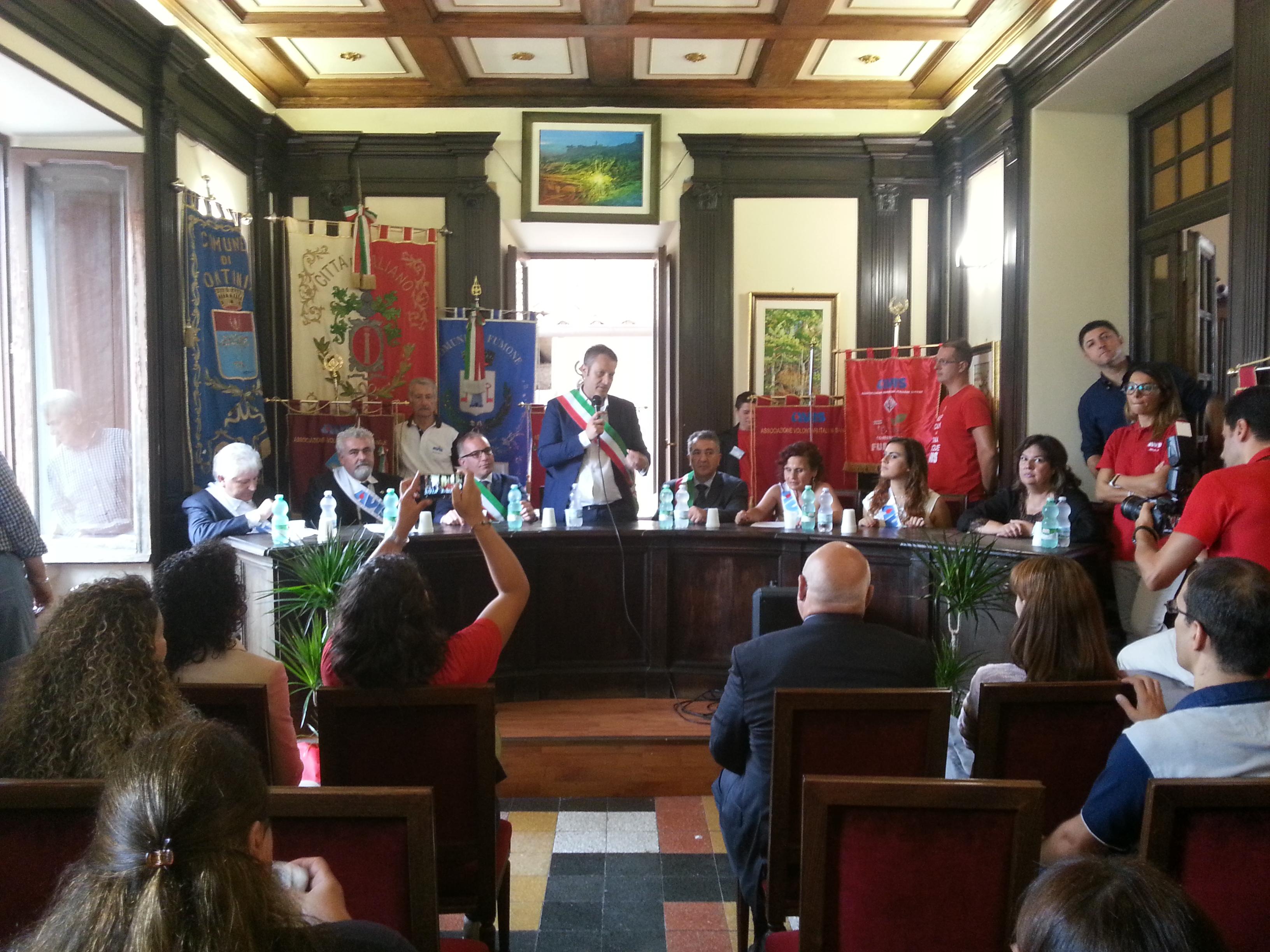 Siglato il gemellaggio delle Avis di Paliano, Fumone, Pontinia e Sermoneta: solidarietà senza confini