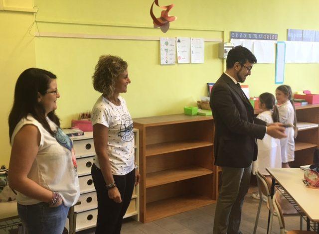 Colleferro, Sanna e Zangrilli fanno gli auguri agli studenti (FOTO)