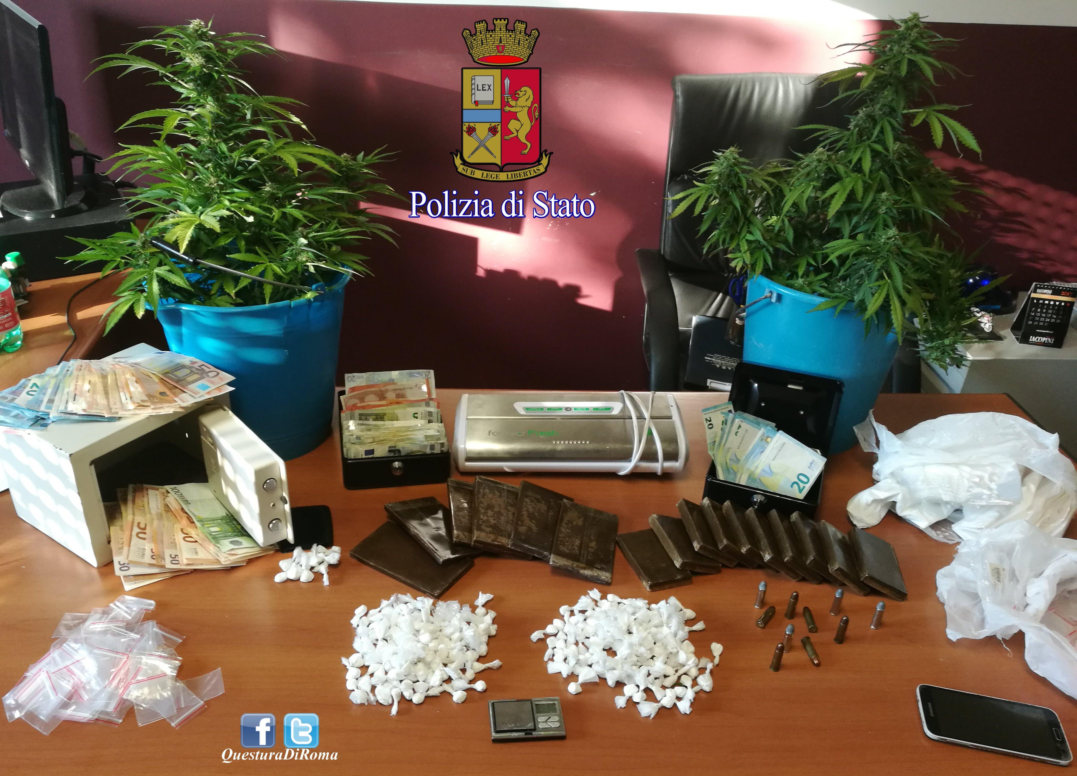 Roma, pagano l'affitto a un incensurato per farsi custodire la droga, poi la spacciavano a Selva Candida e Palmarola