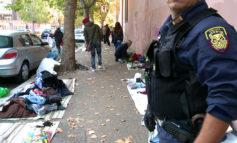 Ostia, intervento in forze della Polizia Locale al mercato di via delle Sirene