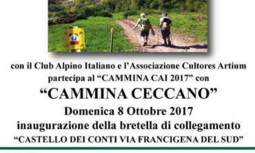 Cammina Ceccano 2017: inaugurazione del percorso tra il Castello dei Conti via Francigena del sud